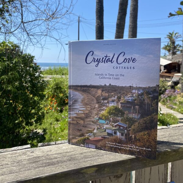 A photograph of the Crystal Cove Beach Cottages coffee table book