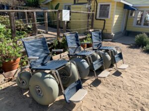 picture of beach wheelchairs