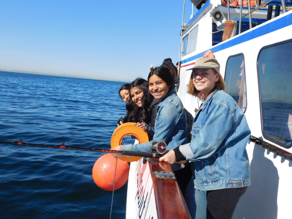 students on an MPA boat